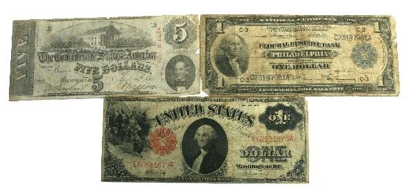 CONFEDERATE NATIONAL U.S. NOTE CURRENCY LOT