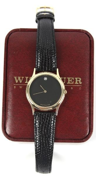 WITTNAUER MEN'S BLACK CERAMIC SS DIAMOND WATCH - 2