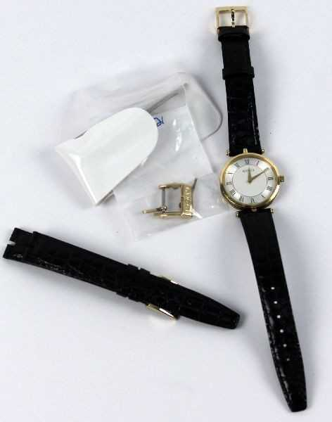 5cda81332db LADIES GUCCI WATCH WITH BLACK LEATHER BAND