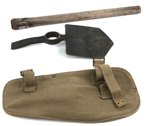 P37 BRITISH WW2 ENTRENCHING TOOL SHOVEL W COVER