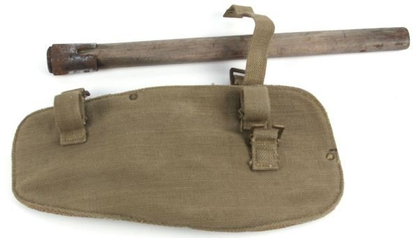 P37 BRITISH WW2 ENTRENCHING TOOL SHOVEL W COVER - 3