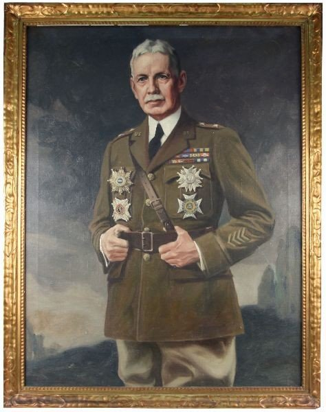 SEYMOUR M STONE PORTRAIT PAINTING OF WWI GENERAL