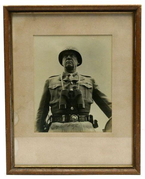 1943-44 AUTOGRAPHED PHOTO OF GEN. GEORGE S PATTON