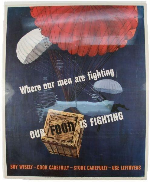 1943 UNITED STATES WWII WAR EFFORT POSTER