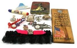 WWII REMEMBER PEARL HARBOR MEMORABALIA 13 PIECES
