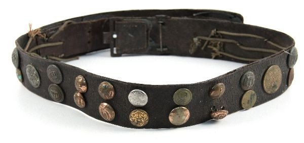 WWI GERMAN HATE BELT 36 BUTTONS SOME SCARCE