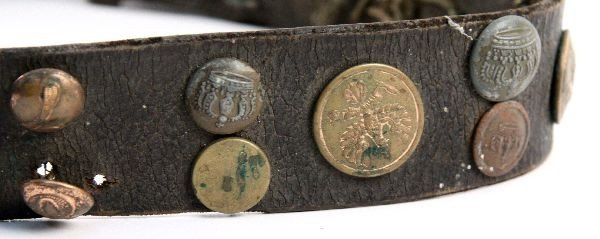 WWI GERMAN HATE BELT 36 BUTTONS SOME SCARCE - 2