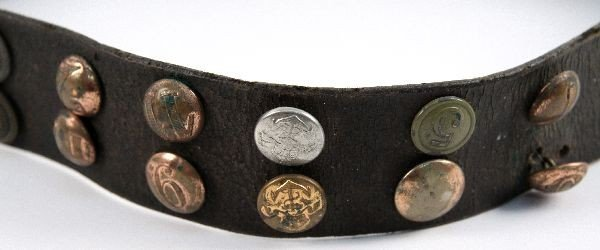 WWI GERMAN HATE BELT 36 BUTTONS SOME SCARCE - 3