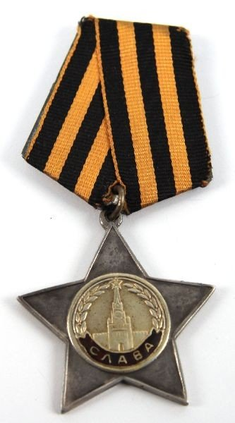 SOVIET RUSSIAN WWII MEDALS RED STAR AND GLORY - 2