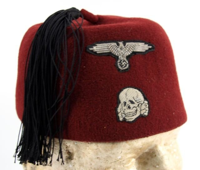 REPRODUCTION WWII WAFFEN SS 13TH DIV M43 FEZ CAP - 2
