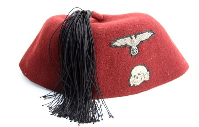 REPRODUCTION WWII WAFFEN SS 13TH DIV M43 FEZ CAP - 3