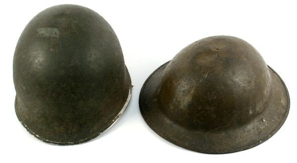 US ARMY WWI 3RD AND WWII M1 HELMETS