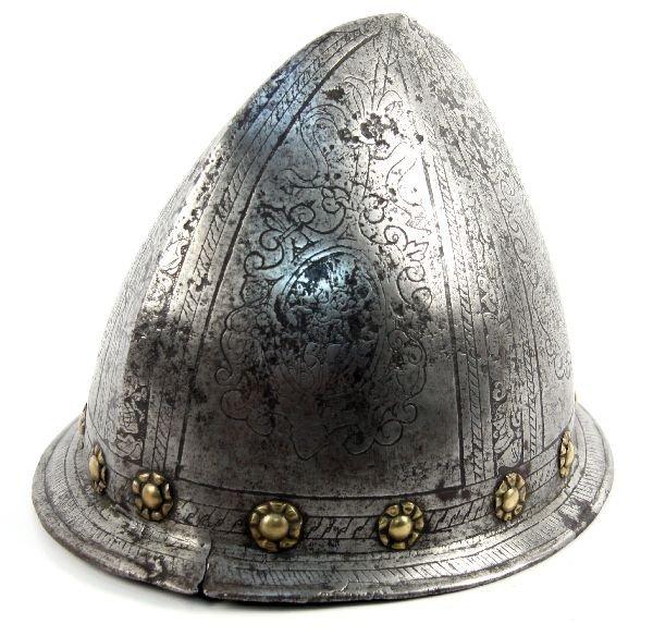 ITALIAN ETCHED CABASET CIRCA 1580-1590