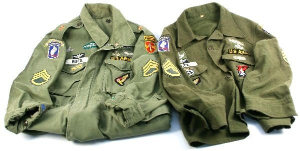 VIETNAM ERA ARMY RANGER JACKETS IN COUNTRY PATCHES