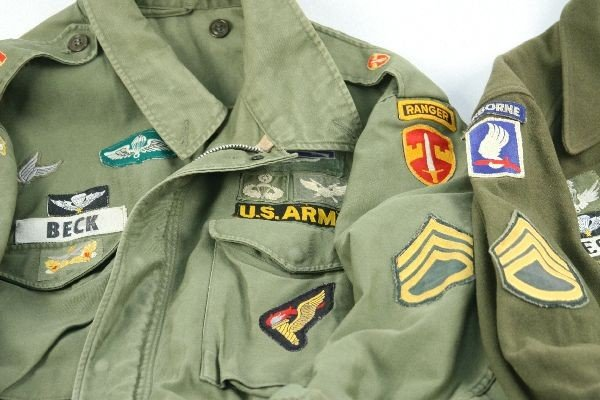VIETNAM ERA ARMY RANGER JACKETS IN COUNTRY PATCHES - 2