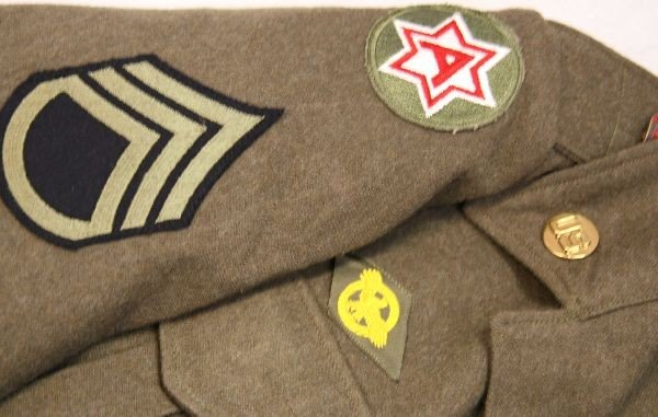WWII US ARMY AIR CORP IKE JACKET WITH INSIGNIA - 5