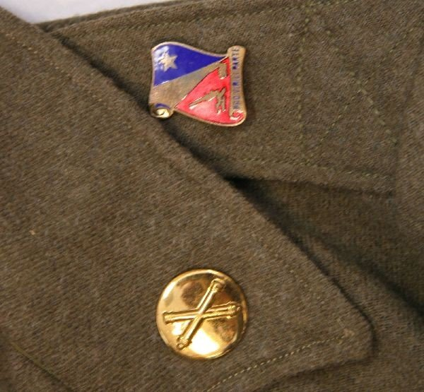 WWII US ARMY AIR CORP IKE JACKET WITH INSIGNIA - 6