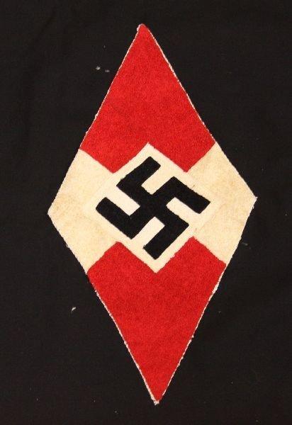 RARE GERMAN WWII THIRD REICH HITLER YOUTH FLAG - 6