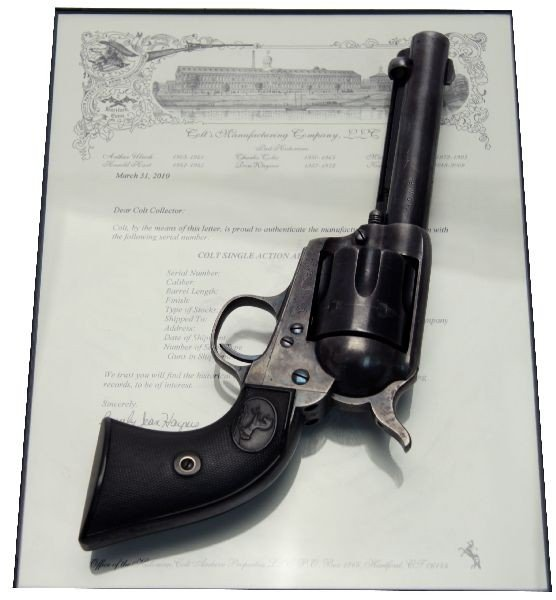COLT SAA REVOLVER .32 WCF WITH ARCHIVE LETTER 1898 - 10