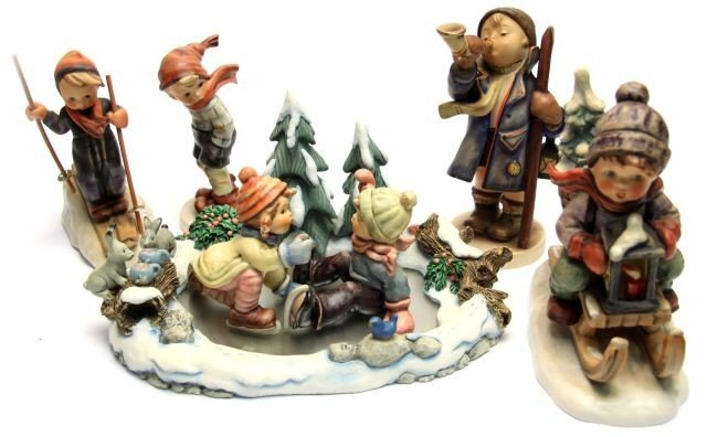 LOT OF WINTER THEMED HUMMEL FIGURES