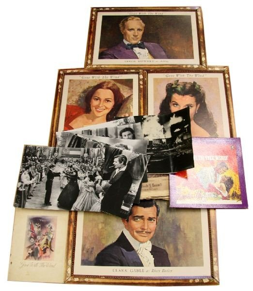 GONE WITH THE WIND LOBBY CARDS AND EPHEMERA