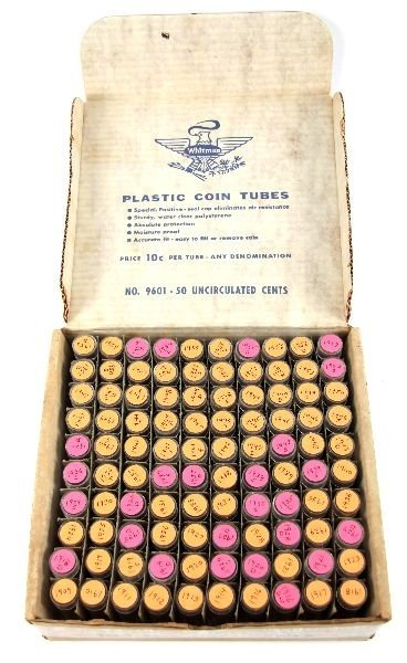 1909 -1957 RUN OF WHEAT CENTS FULL & PARTIAL ROLLS