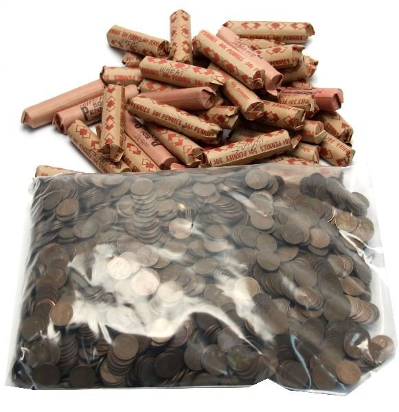 32 POUNDS OF UNSEARCHED WHEAT PENNIES