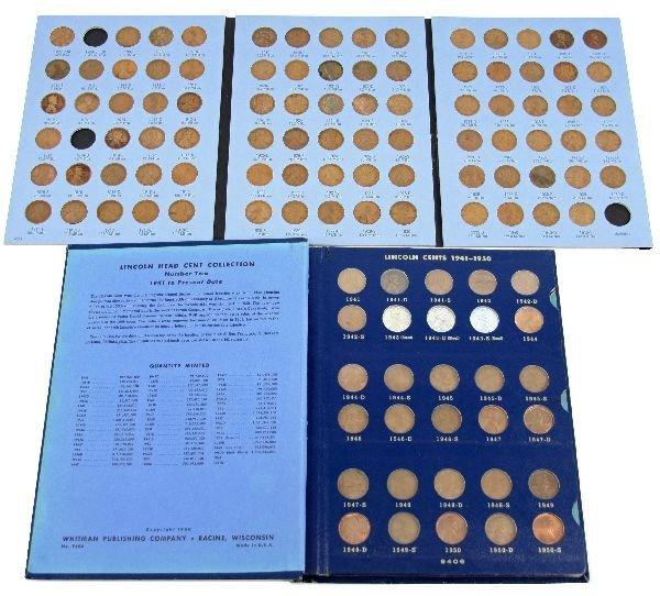 WHITMAN LINCOLN PENNY SET 1909- 1958 WO14D 09S VDB