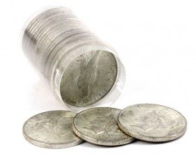 20 COIN ROLL OF 1923 BU SILVER PEACE DOLLARS