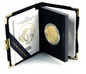 GOLD 1 OZT BUFFALO PROOF 999 FINE 2006 COIN