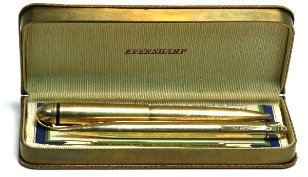 EVERSHARP 14K SOLID GOLD PEN PENCIL SET