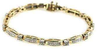 LADIES 14K GOLD DIAMOND TENNIS BRACELET 4 CTW