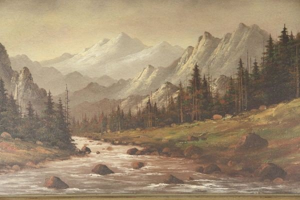 LORENZ E GRIFFITH OIL ON BOARD LANDSCAPE PAINTING - 2