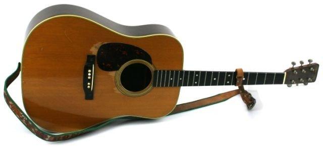 1956 MARTIN D28 LEFTY GUITAR OF RONNIE MILLER
