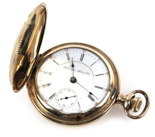 HAMILTON GOLD PLATED POCKET WATCH