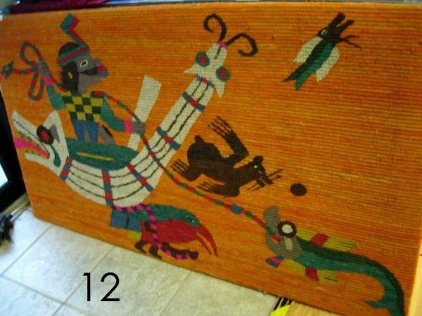12: NAZCA NASCA ORIGINAL WOOL TAPESTRY FISHERMAN PERU