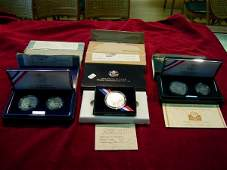 90071 US MINT SILVER COMMEMORATIVE PROOF LOT OF 3 1992