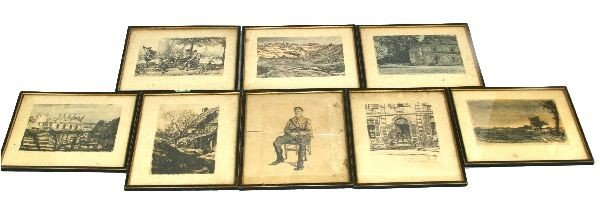 8 PRINTS BY SCOTTISH ARTIST SIR MUIRHEAD BONE