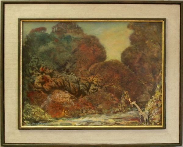 FRAMED OIL PAINTING SIGNED F BOMBARD