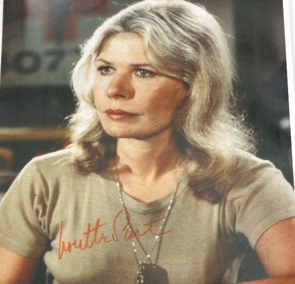 LAUREN BECALL AND LORETTA SWIT SIGNED PHOTOS - 2