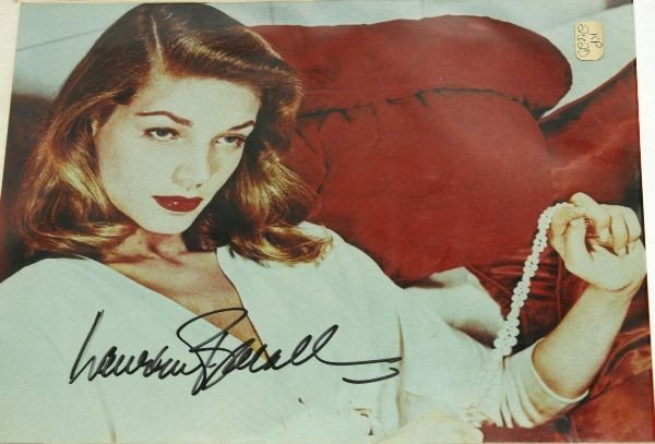 LAUREN BECALL AND LORETTA SWIT SIGNED PHOTOS - 4