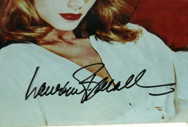 LAUREN BECALL AND LORETTA SWIT SIGNED PHOTOS - 5