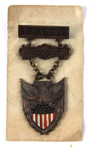 US ARMY MEXICAN BORDER SERVICE MEDAL 1916-1917