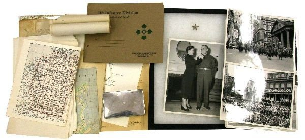 PERSONAL ITEMS OF GENERAL HARLAN HARTNESS 4TH DIV