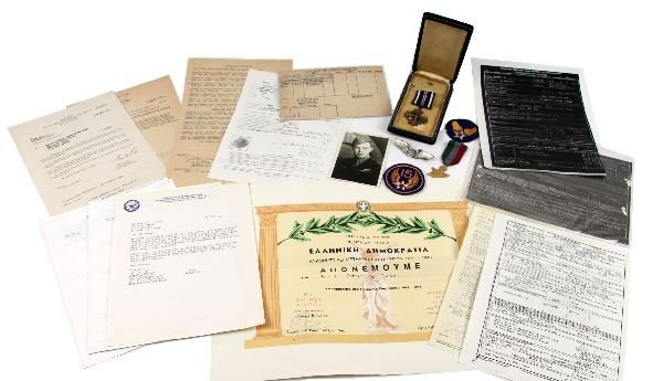 ROBERT WALKER TUNNER ARCHIVE MEDALS DOCUMENTS