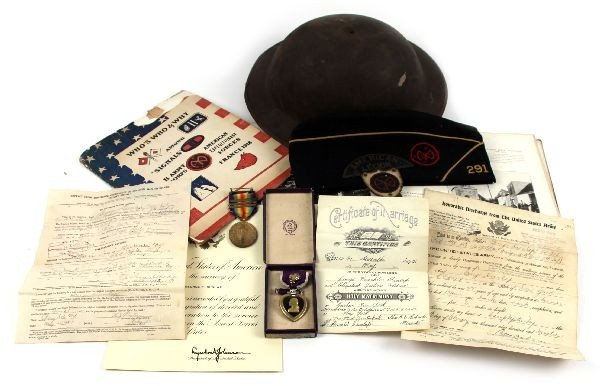 WWI 3RD ARMY CORPS NAMED MEDAL LOT WITH CITATIONS