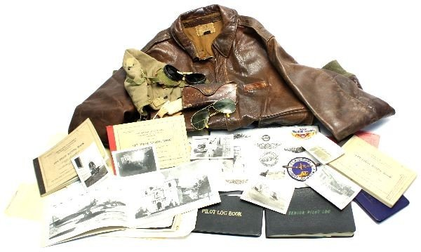 WWII GLIDER PILOT ARCHIVE WINGS A2 LOGS AND MORE