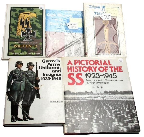LOT OF 5 OUT OF PRINT THIRD REICH REFERENCE BOOKS