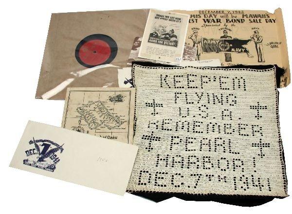 WWII PEARL HARBOR BROADSIDE RECORD & SAMPLER
