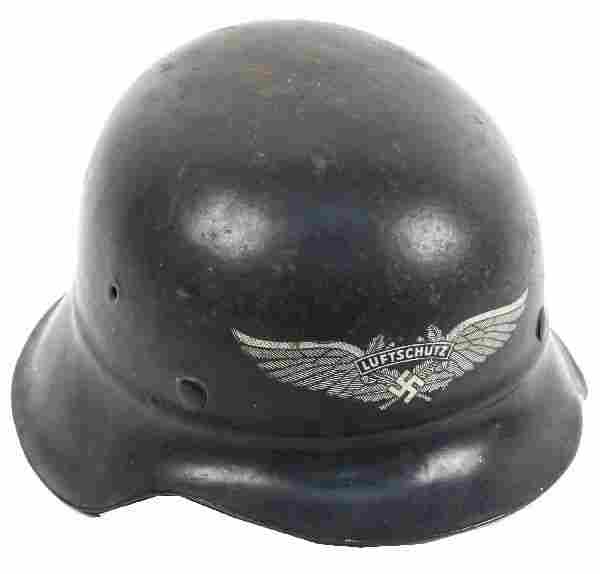 WWII GERMAN M42 BEADED LUFTSCHUTZ HELMET